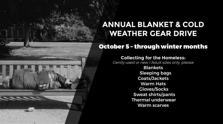 ANNUAL BLANKET & COLD WEATHER GEAR DRIVE