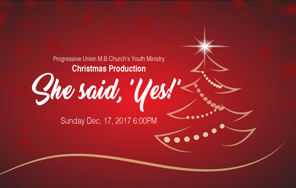 "Youth Ministry – Christmas Production ""She Said, Yes"""