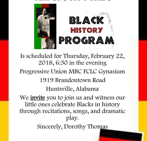 The CDC at PUMBC Black History Program