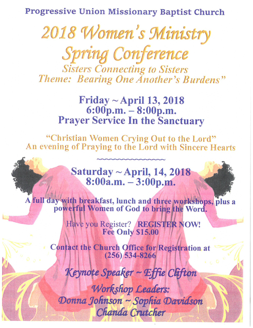 2018 Women's Ministry  Spring Conference