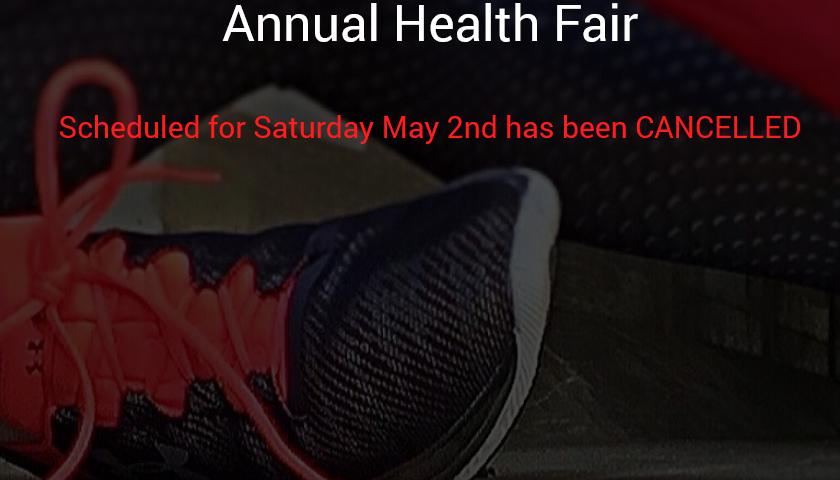 Annual Health Fair Cancelled