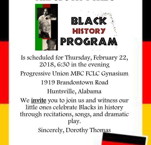 The CDC at PUMBC Black History Program
