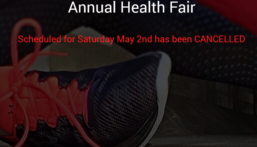 Annual Health Fair Cancelled